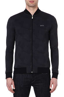 HUGO BOSS Geometric bomber jacket