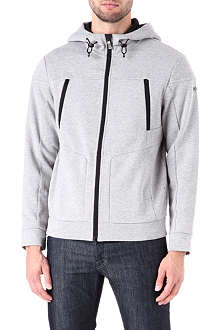HUGO BOSS Waffle zip-through hoody