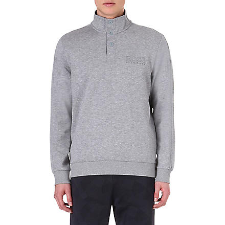 HUGO BOSS Button-neck sweatshirt (Grey