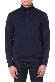 HUGO BOSS Button-neck sweatshirt