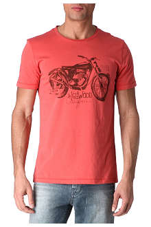 HUGO BOSS Motorcycle graphic print t-shirt