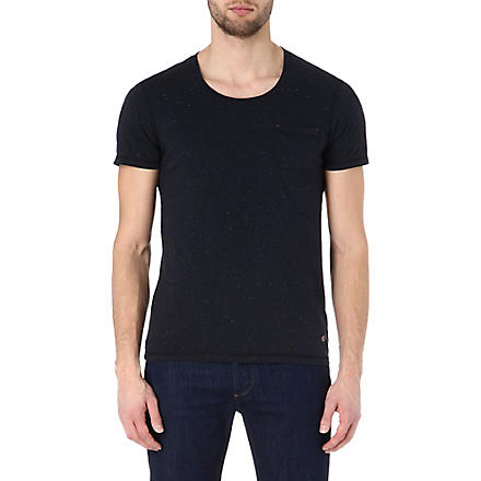 HUGO BOSS Tarko speckled t-shirt (Navy