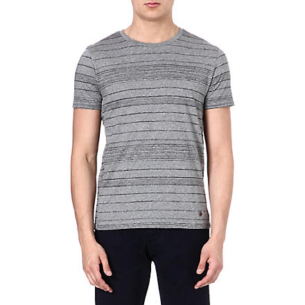 HUGO BOSS Pencil stripe t-shirt (Grey