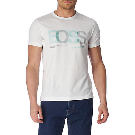 HUGO BOSS Blurred logo t-shirt (White