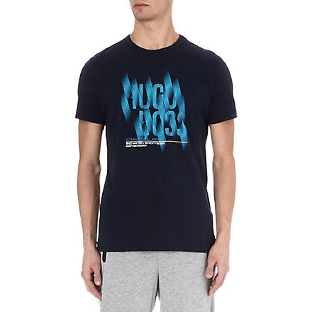 HUGO BOSS Graphic logo t-shirt (Navy