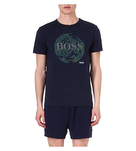 HUGO BOSS Circle print t-shirt (Navy
