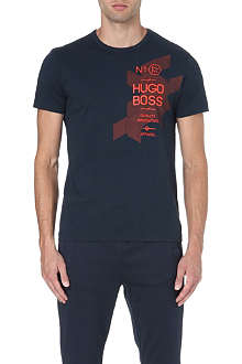 HUGO BOSS Off-centre logo t-shirt