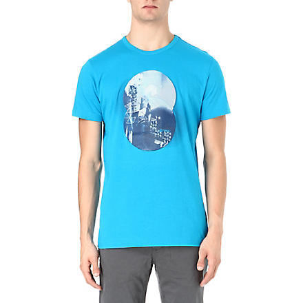 HUGO BOSS Disc printed t-shirt (Turquoise