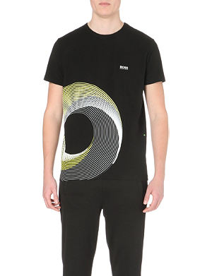 HUGO BOSS Spiral-print t-shirt