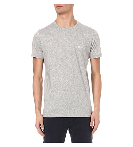 HUGO BOSS Logo cotton t-shirt (Grey