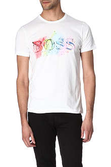 HUGO BOSS Multicoloured logo t-shirt
