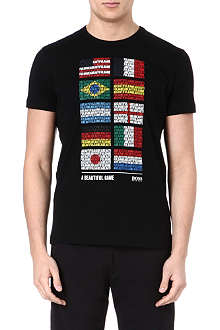 HUGO BOSS Flags of the world t-shirt