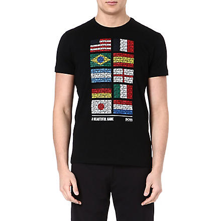 HUGO BOSS Flags of the world t-shirt (Black