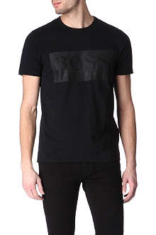HUGO BOSS Herringbone logo t-shirt