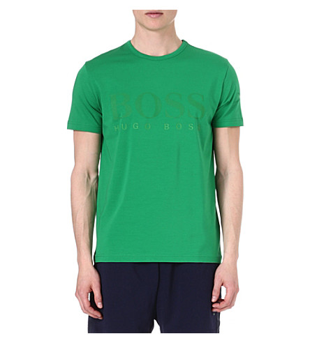 HUGO BOSS Teeus big logo t-shirt (Green