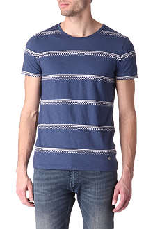 HUGO BOSS Embroidered stripe t-shirt