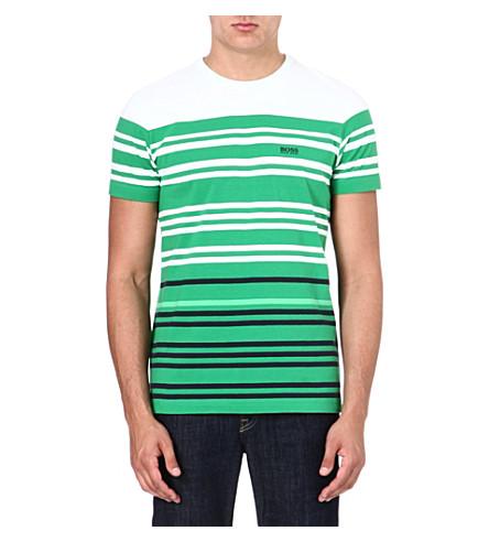 HUGO BOSS Teri striped t-shirt (Green