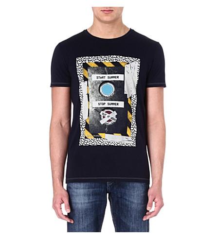 HUGO BOSS Sound System t-shirt (Navy
