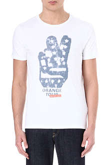 HUGO BOSS Thando peace sign t-shirt