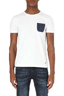 HUGO BOSS Thom woven-pocket t-shirt