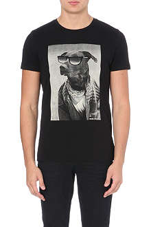 HUGO BOSS Dog print t-shirt