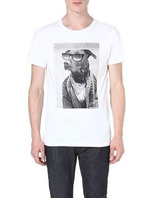 HUGO BOSS Dog print t-shirt