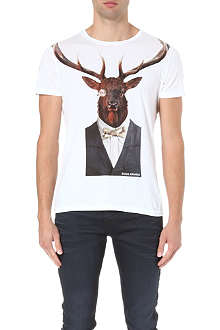 HUGO BOSS Stag print t-shirt