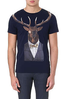 HUGO BOSS Touchdown stag-print t-shirt