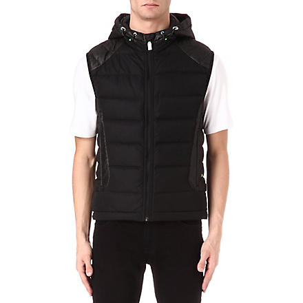 HUGO BOSS Vertical quilted gilet (Black