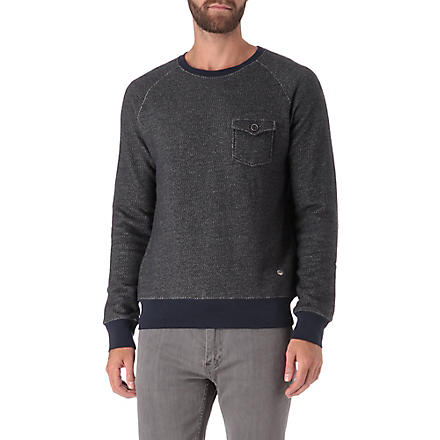 HUGO BOSS Crew neck pocket sweatshirt (Black