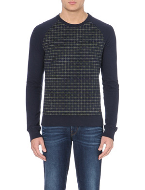 HUGO BOSS Cotton-jersey jacquard sweatshirt