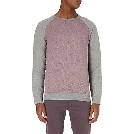 HUGO BOSS Wirtuo two-toned jumper (Grey