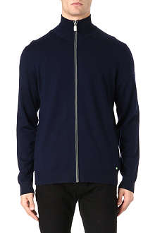 HUGO BOSS Full zip virgin wool hoodie