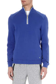 HUGO BOSS Zip-neck knitted jumper