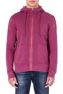 HUGO BOSS Washed zip-through hoody