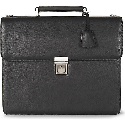 LEONHARD HEYDEN Berlin briefcase (Black