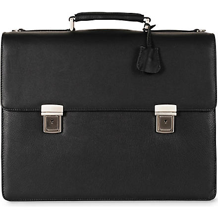 LEONHARD HEYDEN Three-pocket briefcase (Black
