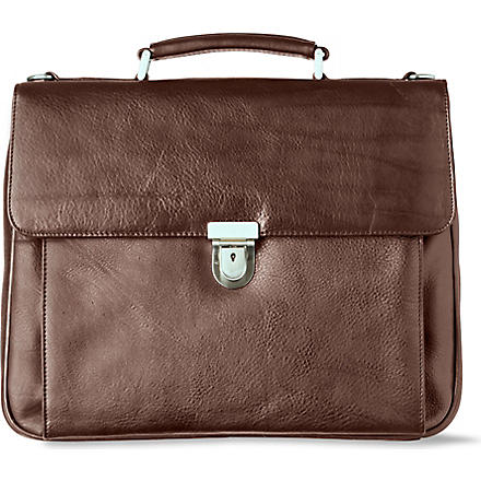 LH Leather briefcase (Brown
