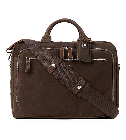 LEONARD HEYDEN Boston laptop bag (Brown