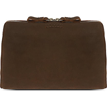 LEONARD HEYDEN Boston toilet bag (Brown