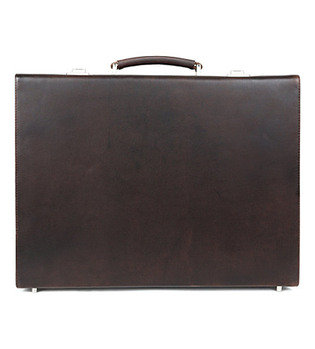 LEONARD HEYDEN Salisbury briefcase (Brown