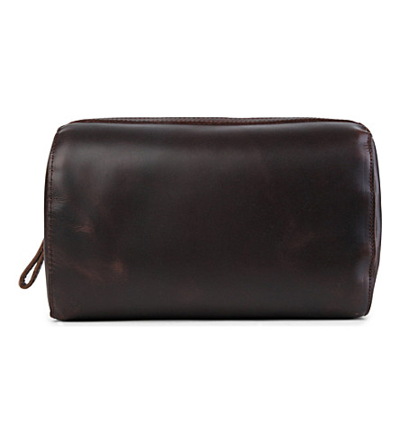 LEONARD HEYDEN Salisbury wash bag (Brown