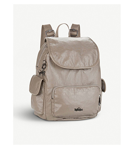 KIPLING City Pack small backpack (Lacquer+sand