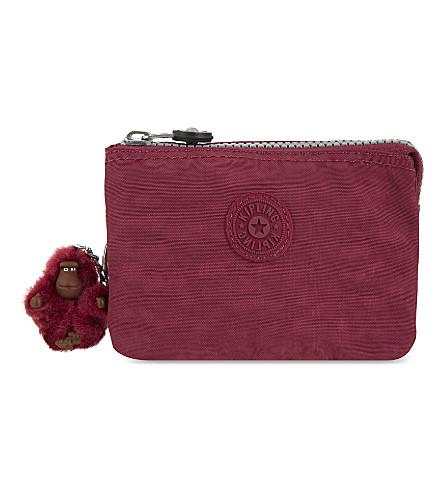 KIPLING Creativity small zipped purse (Berry