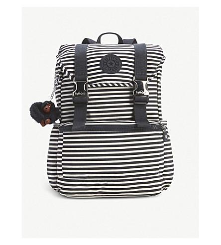 KIPLING Experience small nylon backpack (Marine+stripy