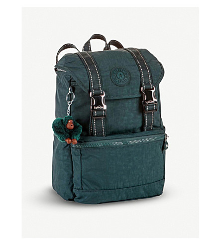 KIPLING Experience small nylon backpack (Deep+emerald+c