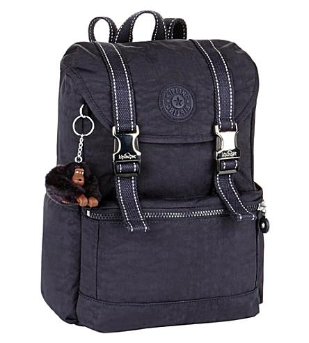 KIPLING Experience small rucksack (Blue+purple+c