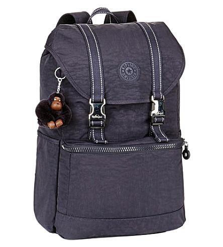 KIPLING Experience medium rucksack (Blue+purple+c