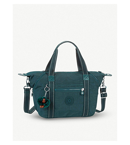 KIPLING Art S printed nylon handbag (Deep+emerald+c