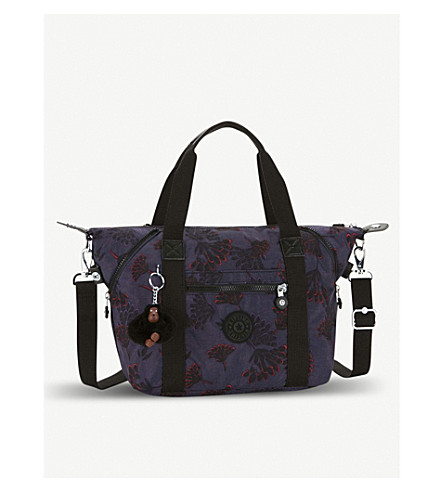 KIPLING Art S printed nylon handbag (Floral+night